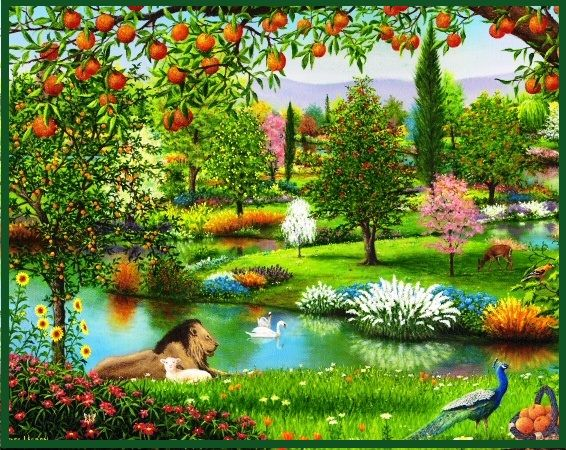 The Garden Of Eden Genesis 2 And 3 Bible Garden Paradise Pictures Jehovah Paradise