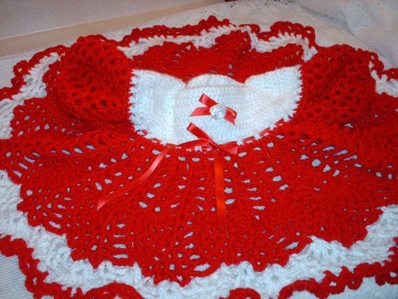 Crocheted Baby Girl's Lacy Dress by Justnancy on Etsy, $45.00