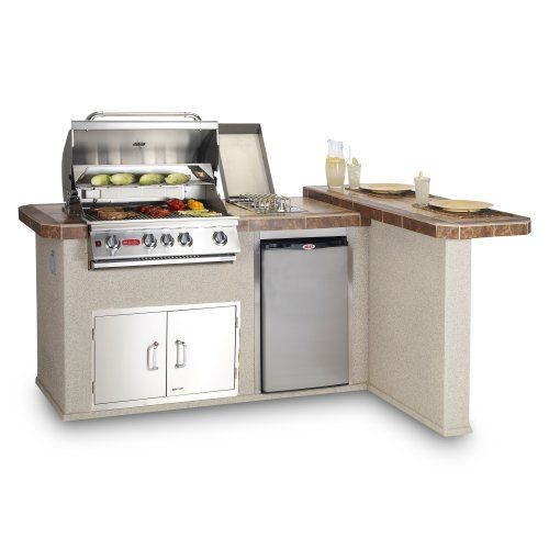 Find It At The Foundary Luxury Q Grill Island Natural Gas Outdoor Kitchen Island
