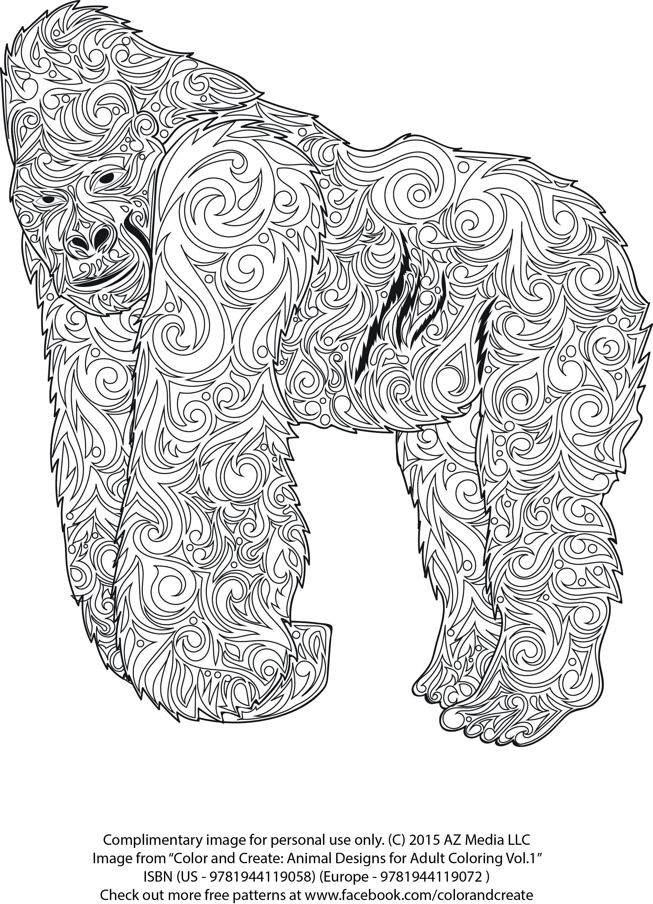 Complimentary Animal coloring pattern