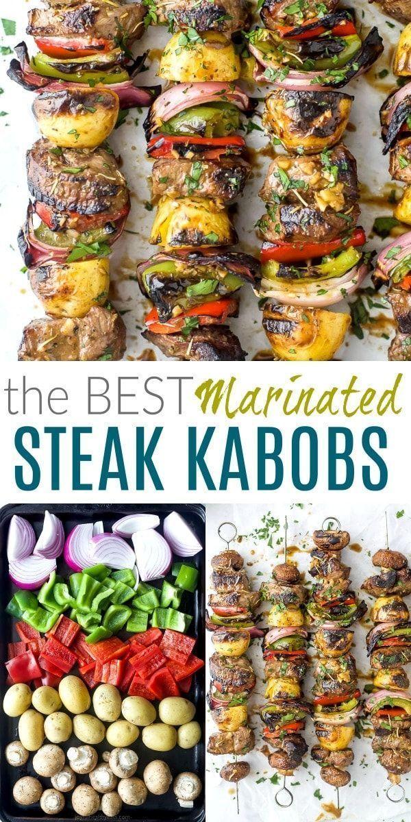 The Best Marinated Steak Kabobs | Beef Kabob Recipe