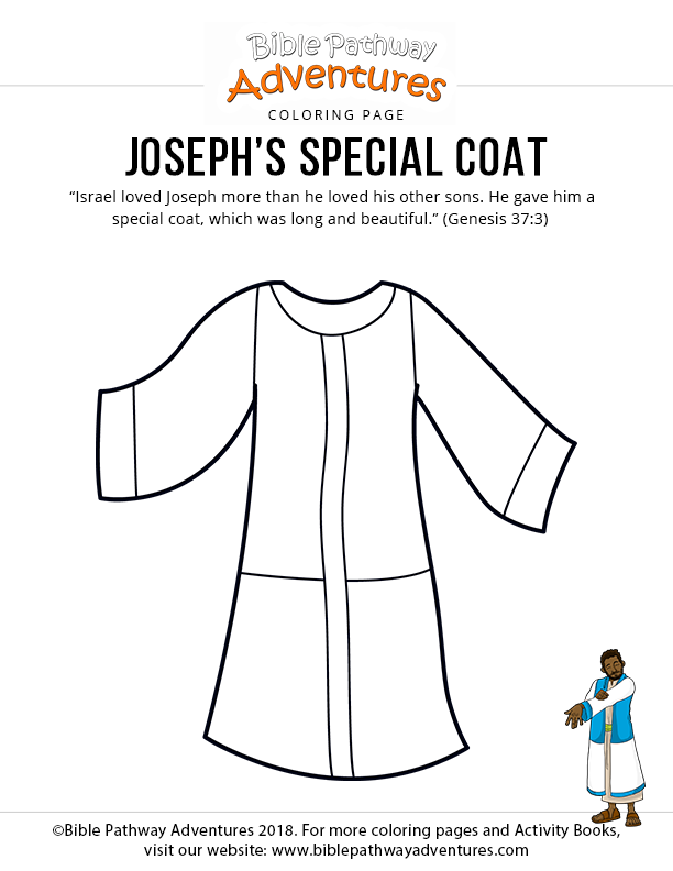 Joseph S Special Coat Bible For Kids Bible Coloring Pages Bible Crafts For Kids