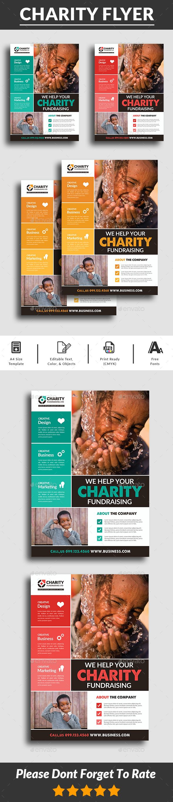 charity flyer templates psd flyer templates pinterest flyer