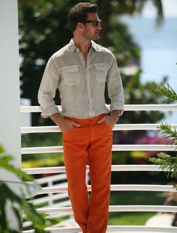 Red Linen Pants Men | Gpant