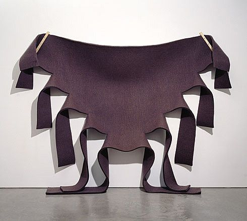 Robert Morris. Untitled (Brown Felt). 1973 - Guggenheim Museum