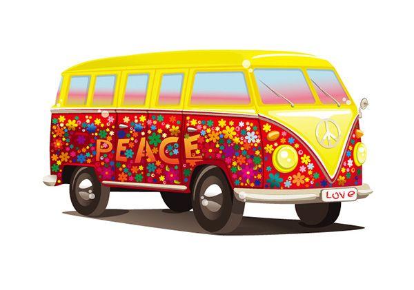 free coloring hippie - Google zoeken