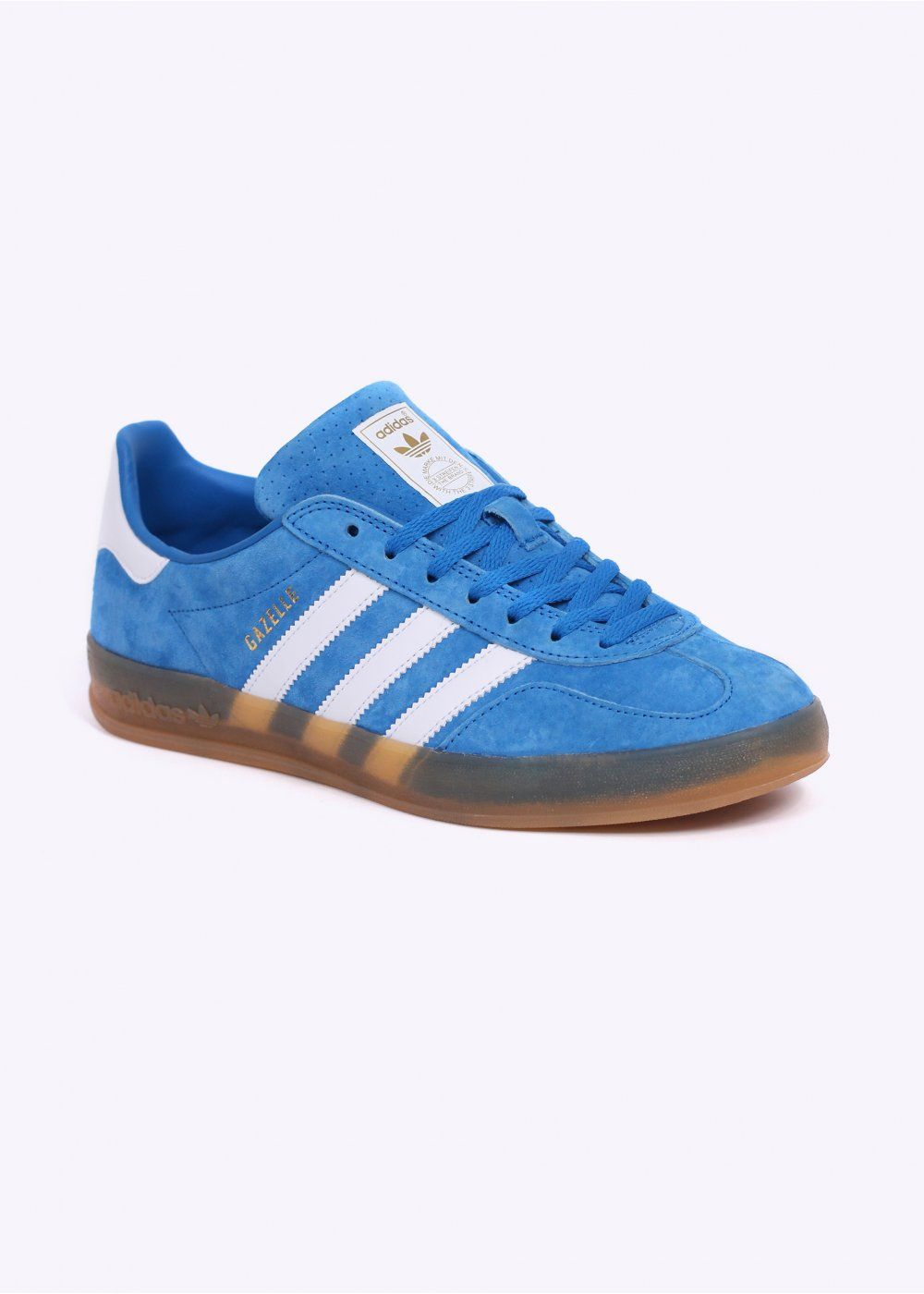sale retailer 14771 cd21c adidas Gazelle OG Indoor in fantastic Bluebird suedeWhite with  semi-transparent gum sole - the best sole for a Gazelle IMO -)