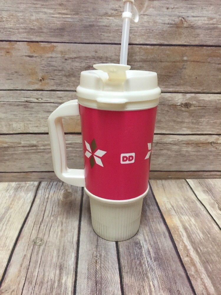 Dunkin Donuts Travel Mug Hot Or Cold Coffee Cup 24 Oz