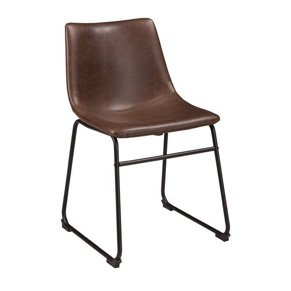 Irving Upholstered Side Chair in Brown | Upholstered ...
