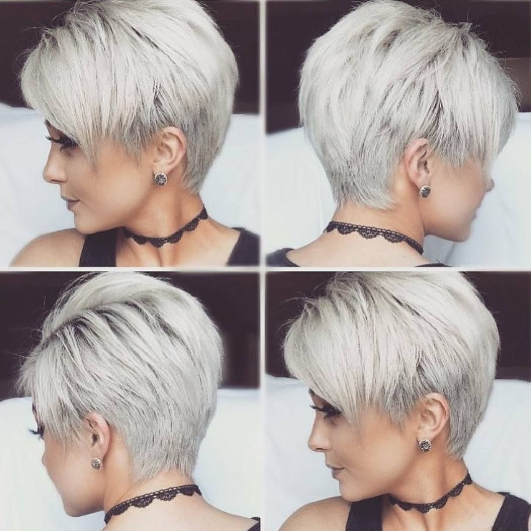 Chic Short Hairstyles for Thick Hair, Women Short Haircut 10