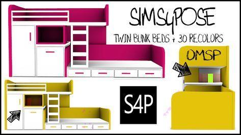 Download Sims 4 Pose Toddler Twin Bunk Beds Kids