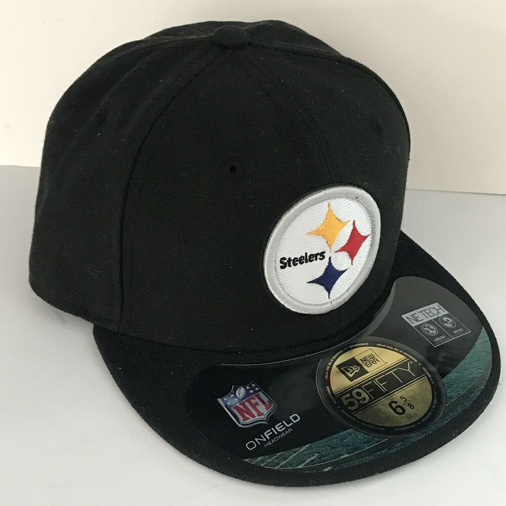 7a2a60b5d7c89 New Pittsburgh Steelers 6 5 8 NFL 59Fifty New Era Black Fitted Cap A2558