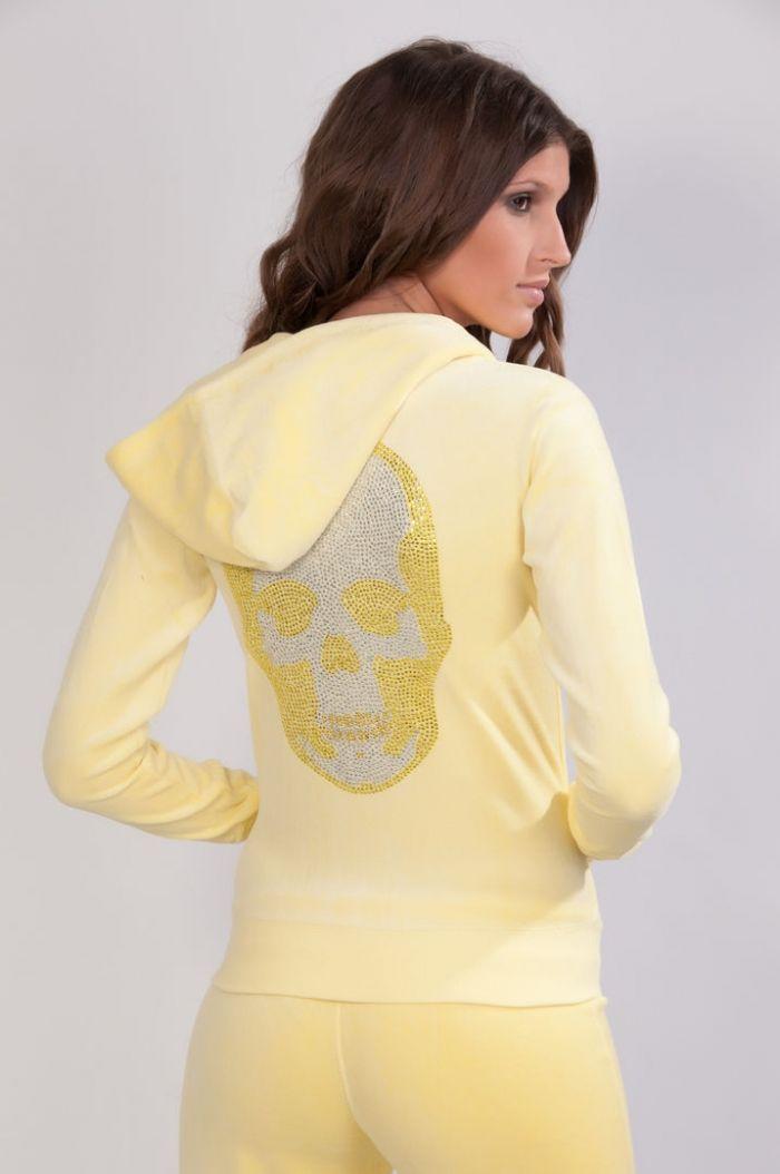 Veste de training jaune tête de mort jaune de Dress me up by Giz : vente en ligne de Veste de training jaune tête de mort jaune training jaune