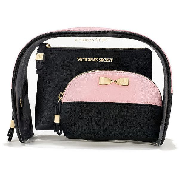 8a58aee5e19c4 Victoria's Secret Colorblock Cosmetic Bag Trio (£19) ❤ liked on ...