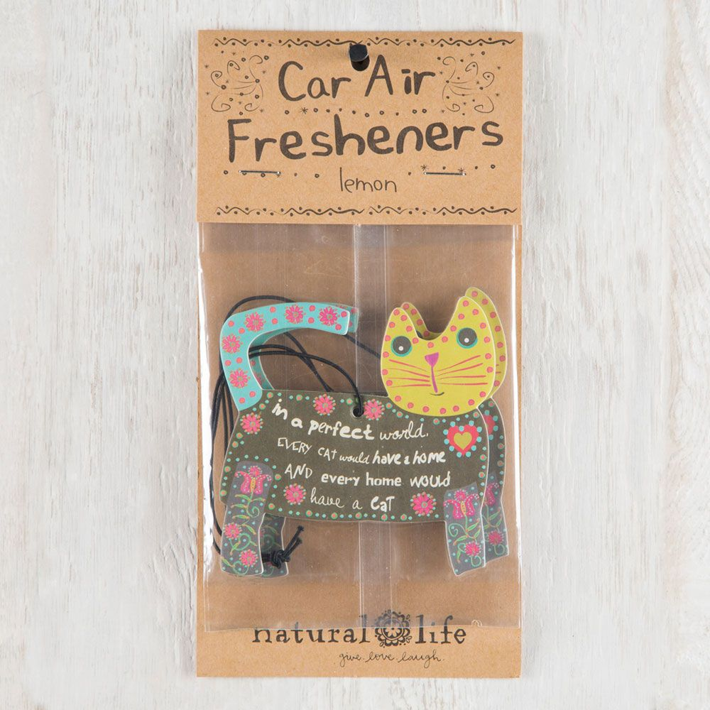 You will totally adore this set of three lemonscented car