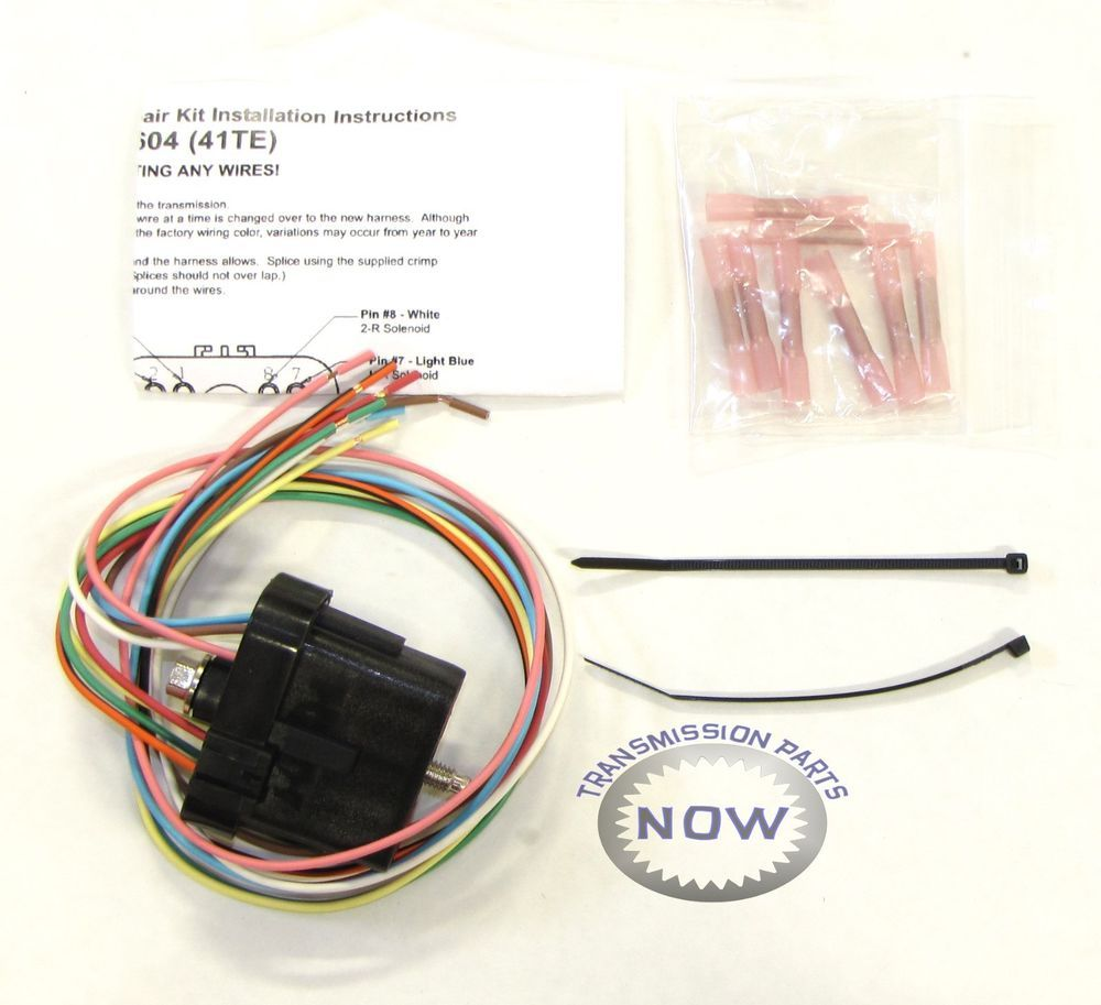 medium resolution of dodge chrysler a604 40te 41te transmission solenoid repair connector end 92445ak transmissionpartsnow