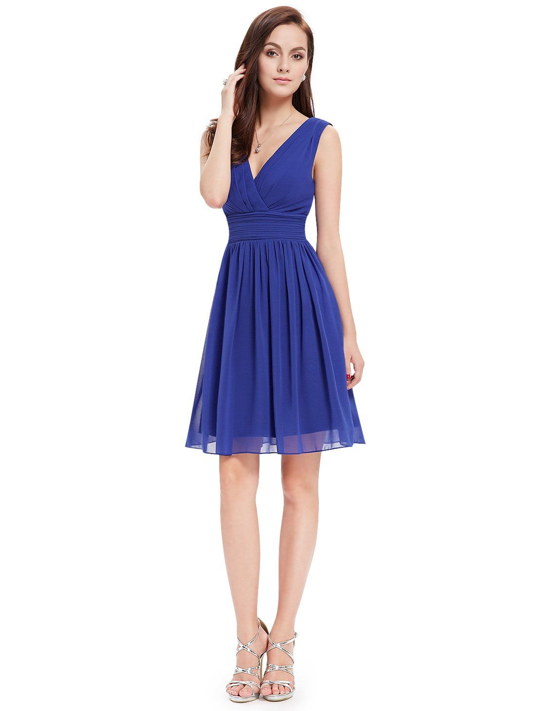 f97ecfda724 Ever Pretty Womens V Neck Ruched Chiffon Short Bridesmaids Dress 16 US  Sapphire Blue   Check out a lot more at the picture web link.