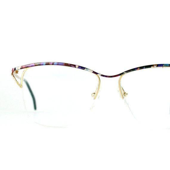 0ebff16e7d Golden Metal Sun eyeglasses Semi-rimless Multicolor by thenovelty ...