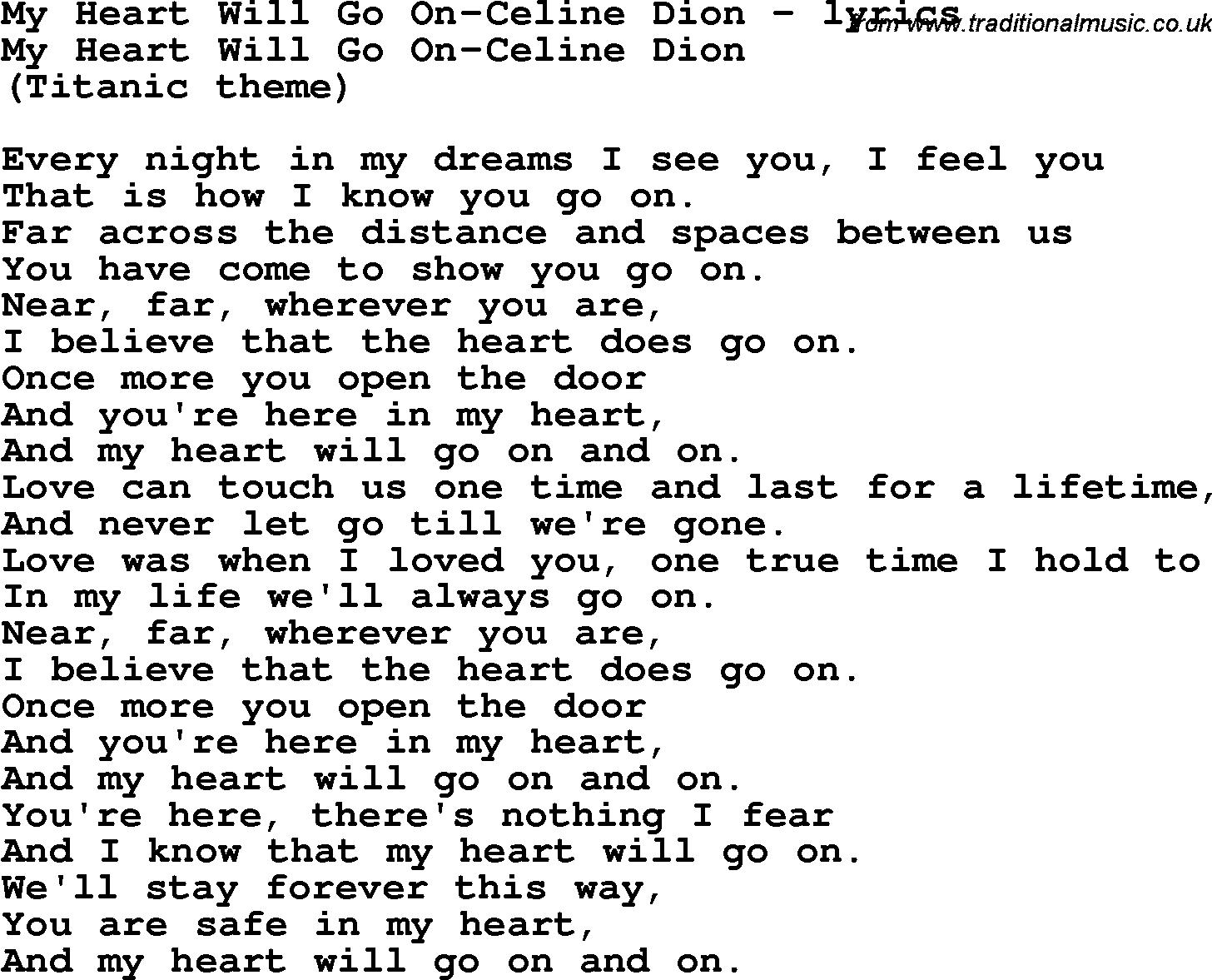 Titanic Song (with lyrics) - YouTube
