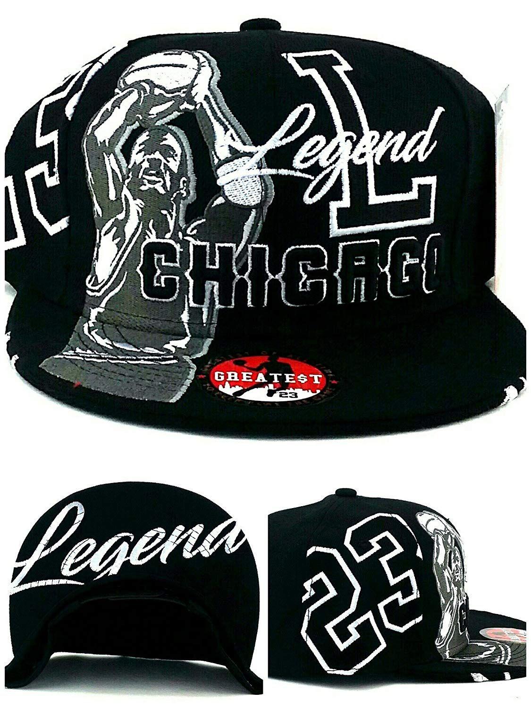 ec7bf810d47 Chicago New Legend Greatest 23 MJ Jordan Bulls Alternate Colors Black White  Era Snapback Hat