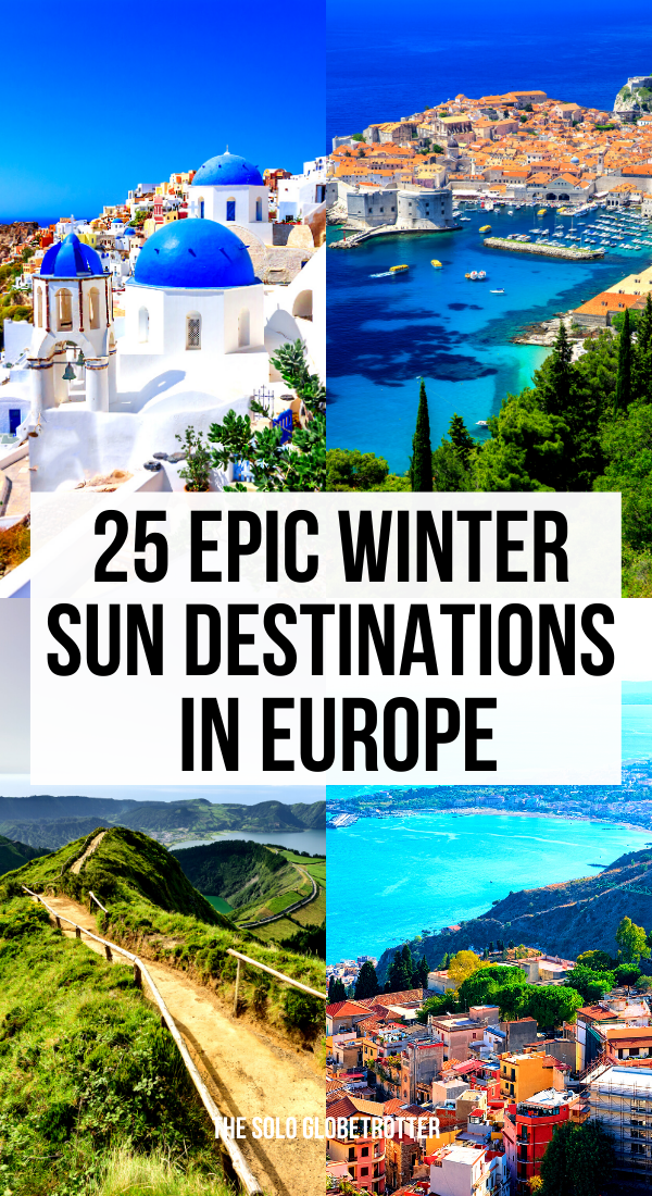 Discover the best winter sun destinations in Europe. Check the best places to visit in Europe in Winter - From stunning beach towns to the best food and history, we got you covered. Find more about the best destinations in Europe for winter sun holidays.