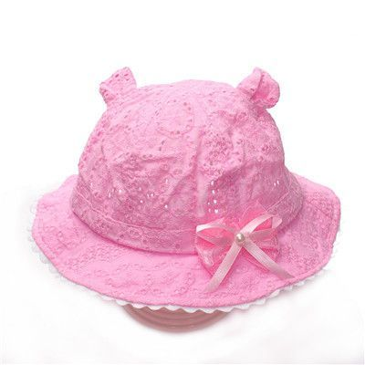 NEW Hollow Baby Girls Hat With Bow