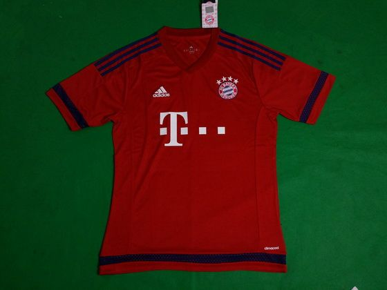 leaked version aaa 2015 2016 bayern munich home red soccer jerseyonly us22.50
