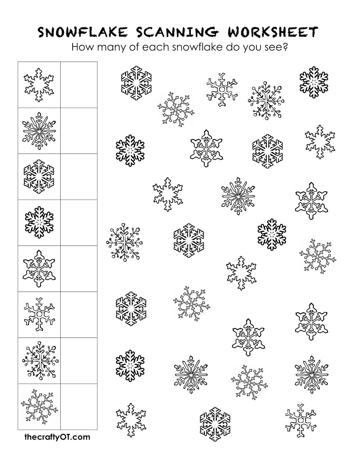 Free Winter Worksheets Visual Discrimination Worksheets Visual Perception Activities Occupational Therapy Kids [ 1600 x 1237 Pixel ]