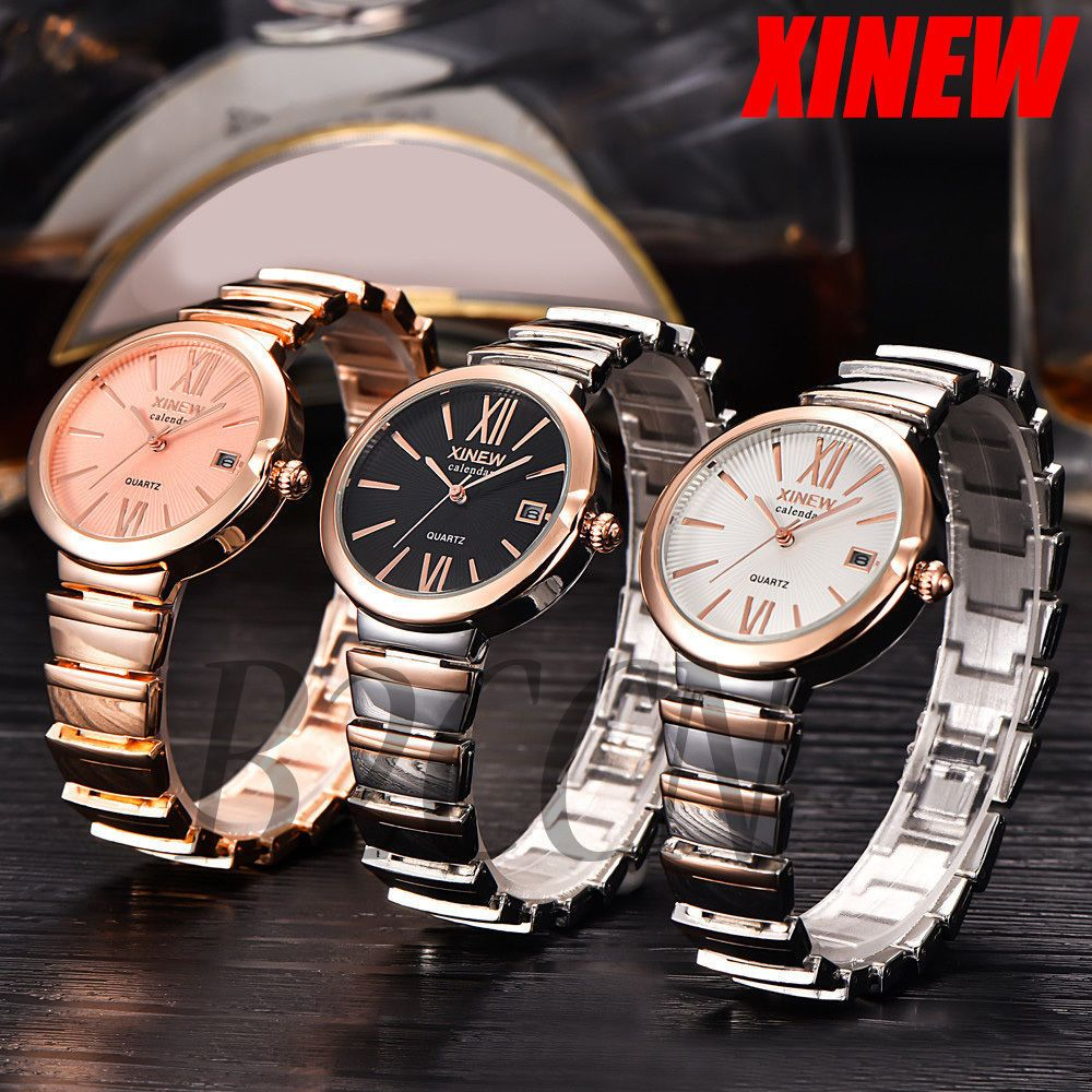 3400a9851c95 9.11AUD - Fashion Ladies Stainless Steel Bracelet Watch Analog Quartz Date  Wrist Watches  ebay  Fashion