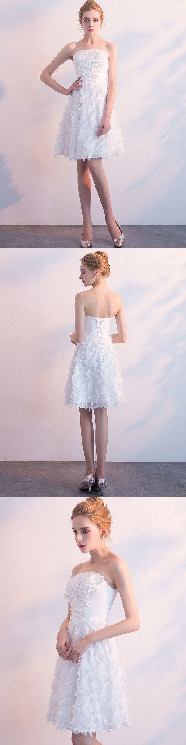 Chic White Homecoming Dress Party Cheap African Homecoming Dress