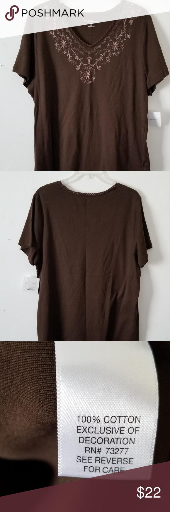 NWT Croft /& Barrow® Womens Plus Size Nightgown Size 2X