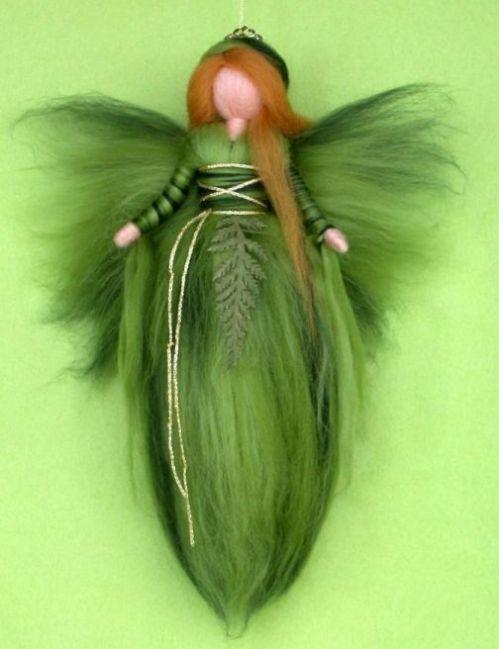 NEEDLE FELTED WOOL FAIRY DOLL  FEE ANGEL FAIRIES by Holichsmir, $25.00 #dollcare