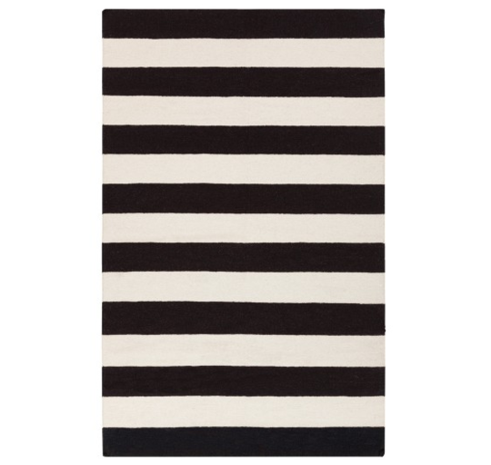 Get The Look Black White Stripe Rug Striped Rug Area Rug Collections Area Throw Rugs