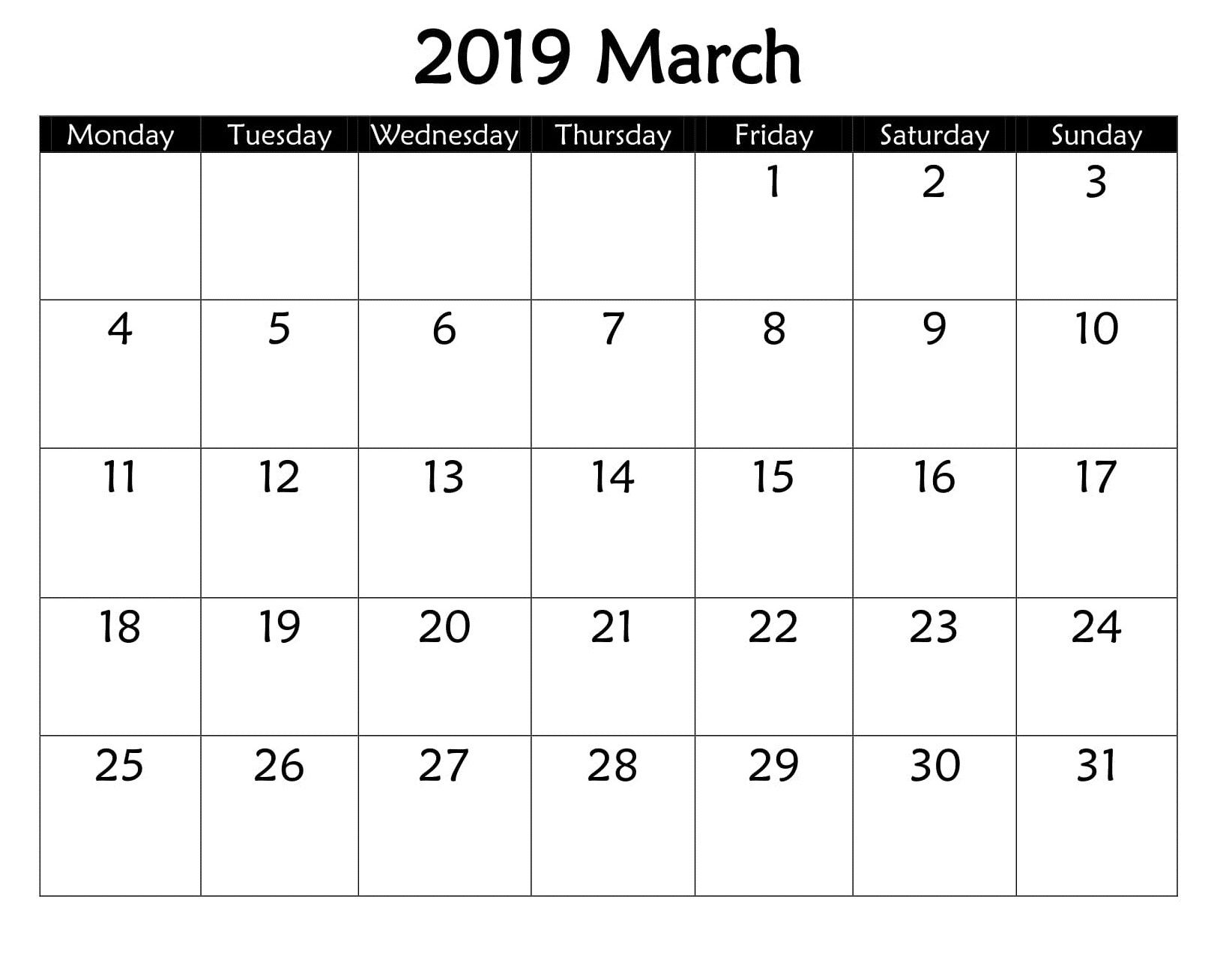 March 2019 Google Spreadsheet Spreadsheet Template Google Spreadsheet Google Calendar
