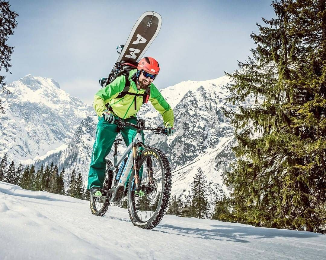 what is going on here? biking, splitboarding who says