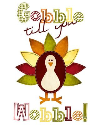 turkey gobble wobble print and other free printable ideas