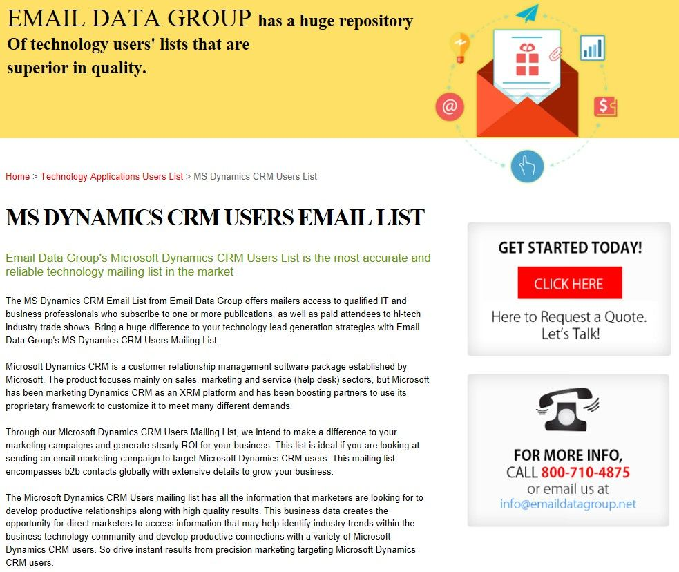 Crm Quote Impressive Ms Dynamics Crm Decision Makers List  Httpwww.emaildatagroup . 2017