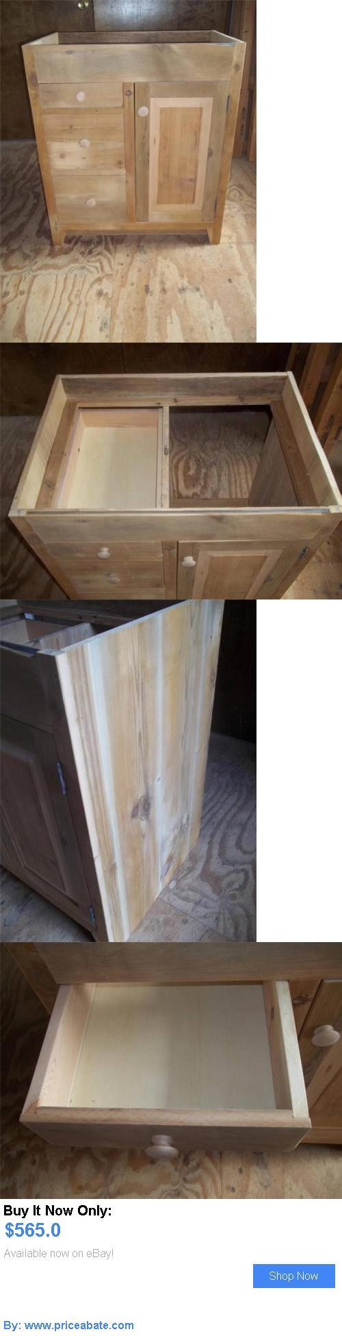 48 Quot Unfinished Mission Hardwood Vanity For Undermount Sink 7 Drawers - Antiques antique amish built unfinished reclaimed barn wood bathroom vanity cabinets buy it now only