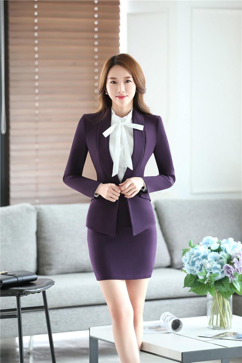 2019 3XL Plus Size Beautiful Lady Fashion Business Suits ...