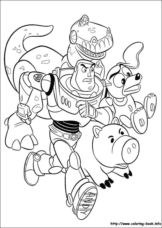 Making Our Party - Colouring: Toy Story