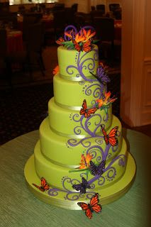 The White Flower Cake Shoppe - I love the colors!