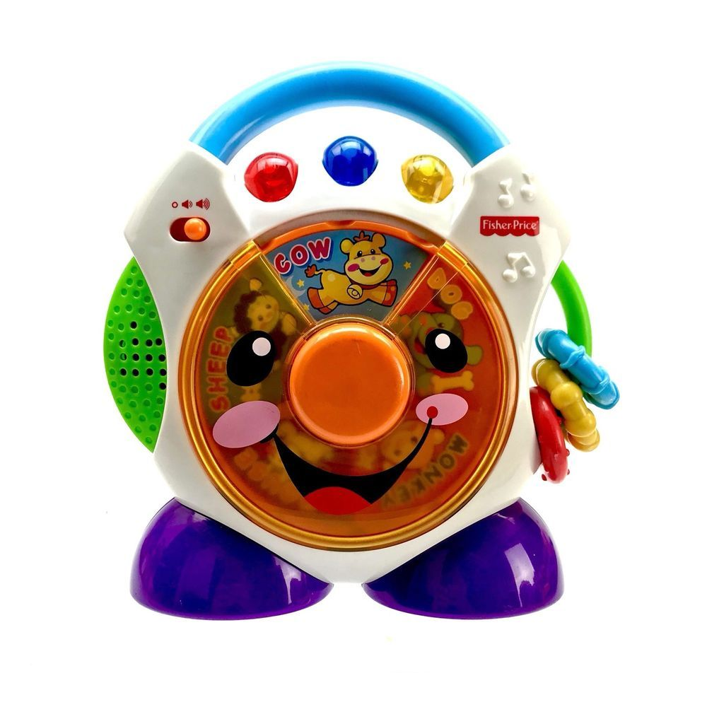 Fisher Price Laugh Learn Nursery Rhymes Cd Player Vintage 2005 Music Lights
