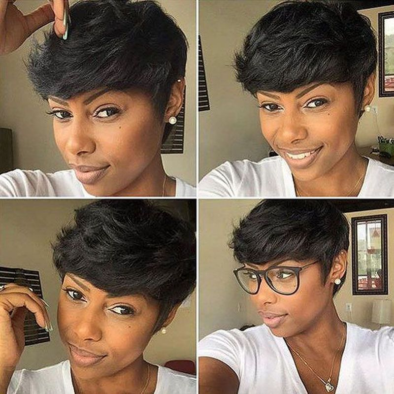 Surprising 27 Pieces 7A Real Human Short Hair Extensions Malaysian Virgin Hairstyles For Women Draintrainus
