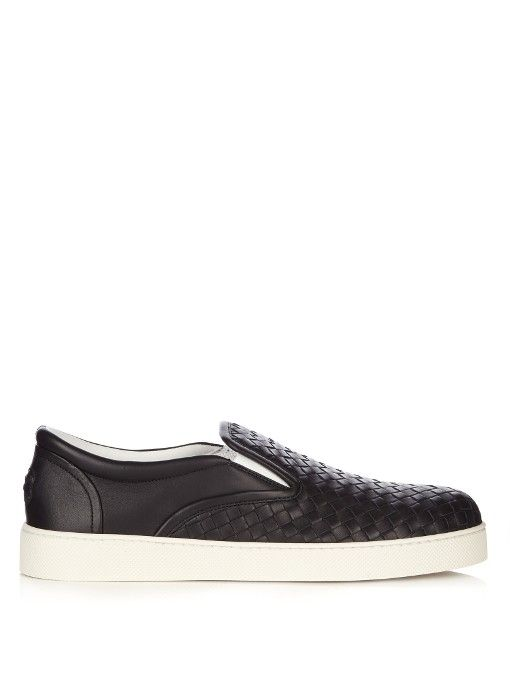 Intrecciato leather trainers Bottega Veneta LQxCVt