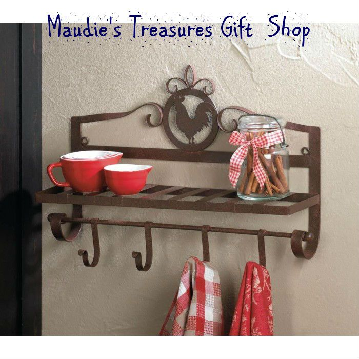 Rooster Wall Basket #kitchen #wall rack #storage $18.05 #new ...