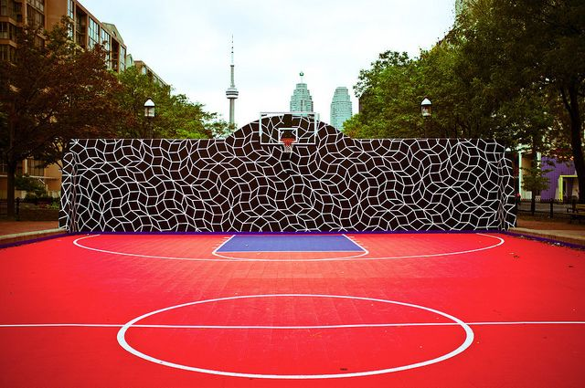 A Court For Players Trippin On Lsd Fun Play Basketball Court
