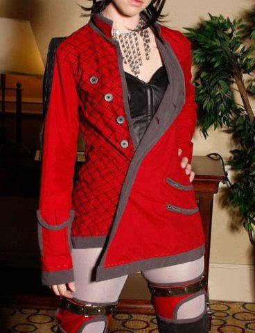 SALE: OOAK Award winning original design cyber punk jacket - sci fi rave wear, future fashion. $150.00, via Etsy.