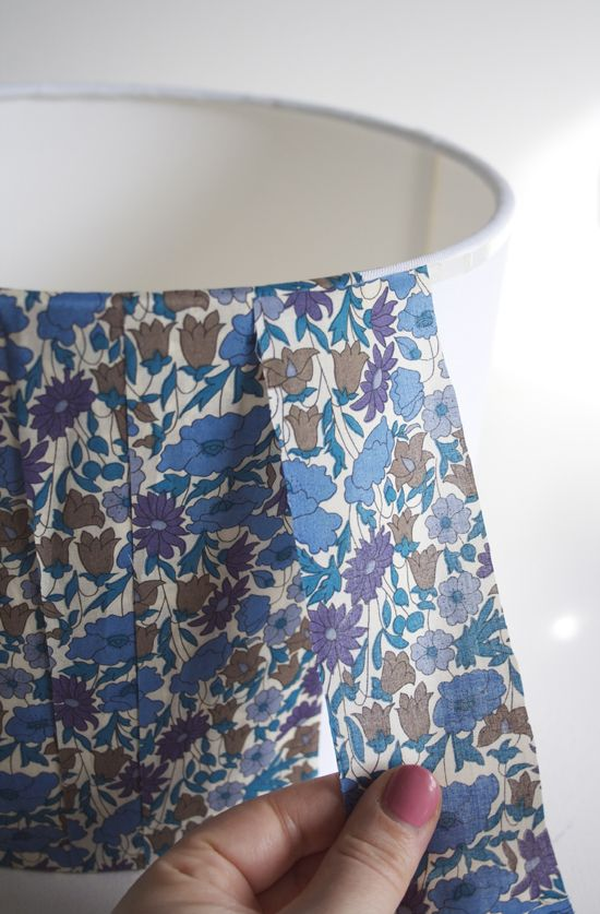 Diy Liberty Lampshade At Home In Love Cover Lampshade Fabric