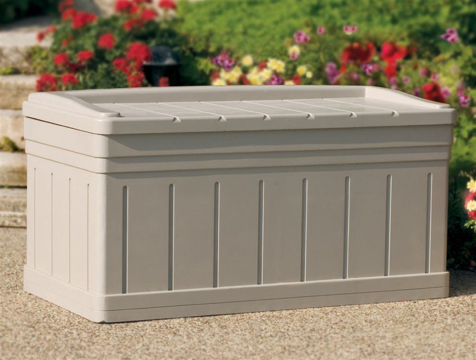 Extra Large Outdoor Storage Bench W Removable Storage Tray. Put Upholstered  Pad On Top And Decorative Pillows