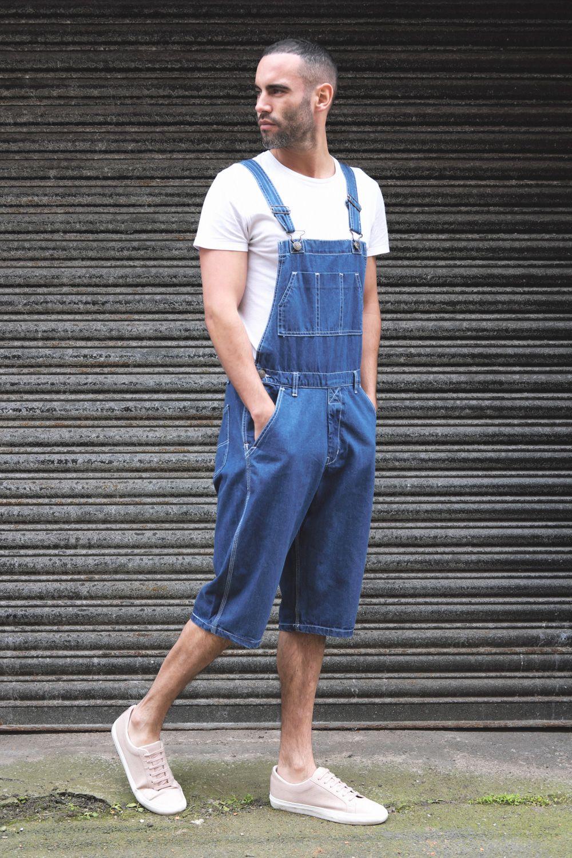 62e815b6 USKEES Blake Men's Denim dungaree shorts. #bibshorts #overalls ...